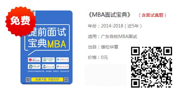 2020年广东工业大学MBA提面通知